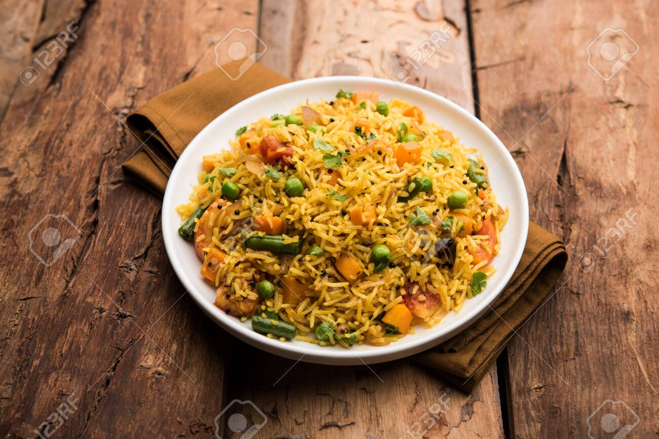 Tawa Pulaopulavpilafpilau Is An Indian Street Food Made Using