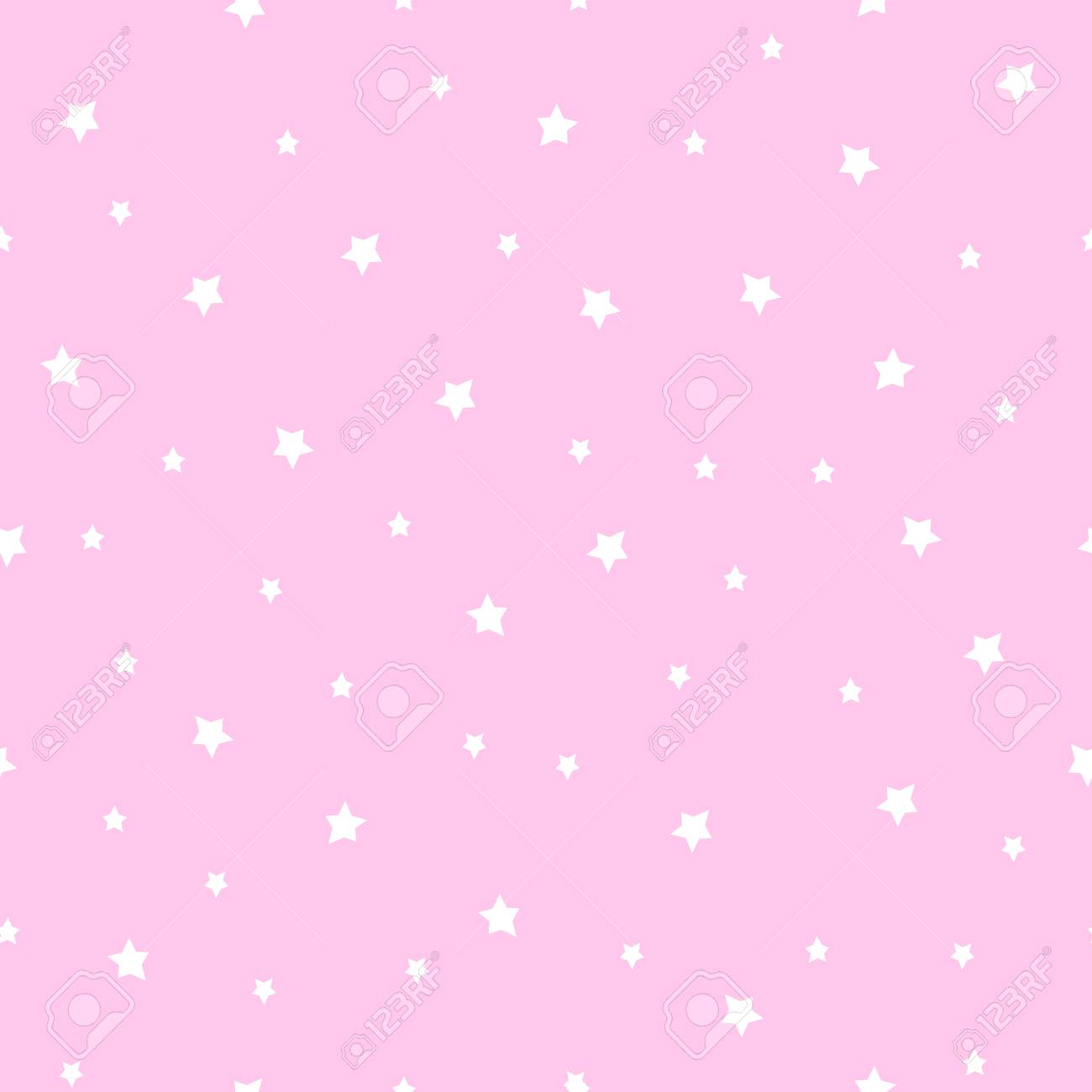 Seamless Stars Pattern On Baby Pink Background Cute Baby Shower Royalty Free Cliparts Vectors And Stock Illustration Image 61674714