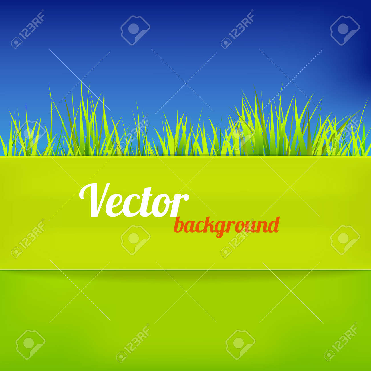 Bright background in green and blue color illustration Stock Vector - 18543052