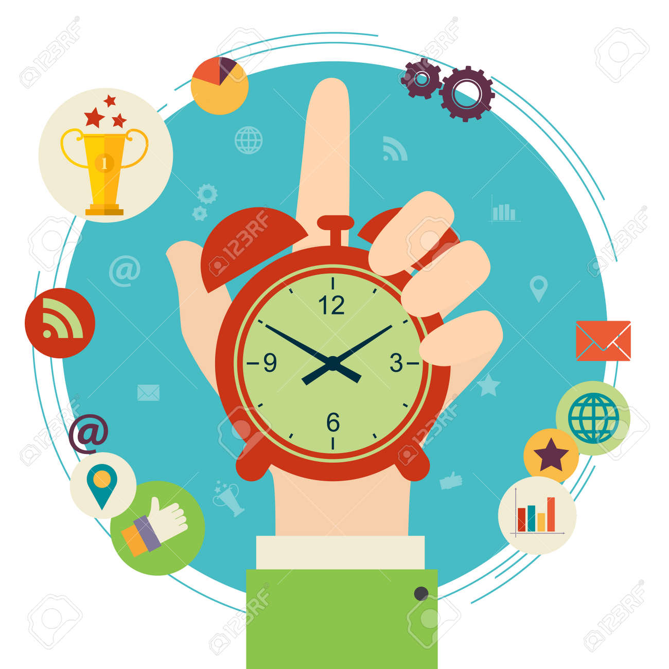 34 147 time management cliparts stock vector and royalty free time rh 123rf com time management clipart images Change Management Clip Art