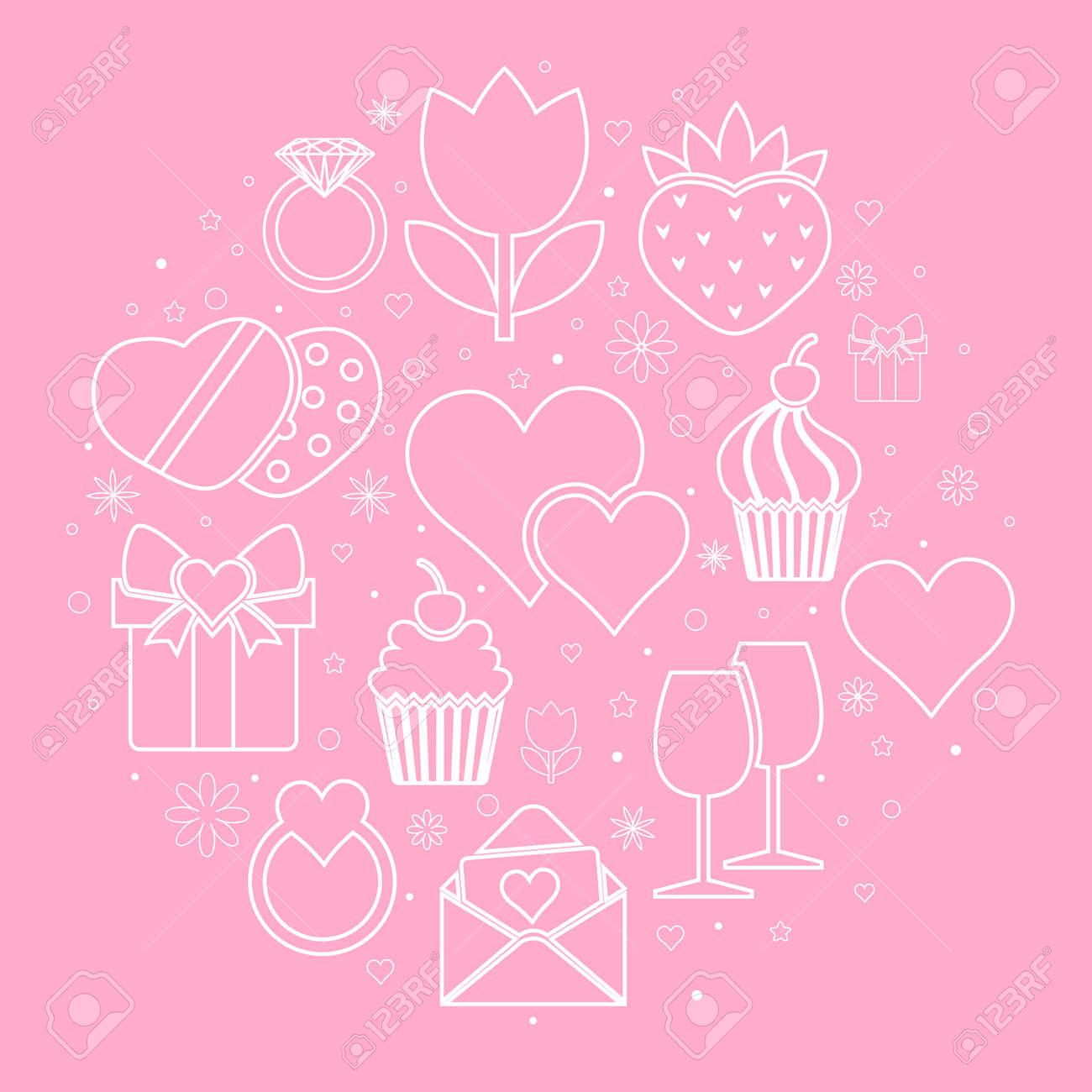 Valentinstag Symbole Vorlage Von Valentinstag Symbol Valentinstag