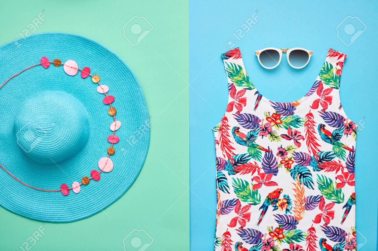 ed299845e5ce Beach Background. Summer Girl Clothes Set