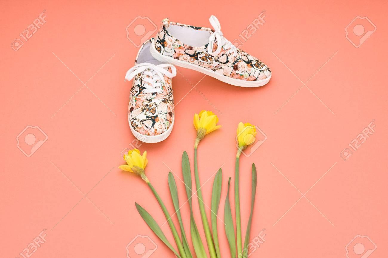 Style Mode À D'été FixésAccessoiresChaussures Florale Vêtements De summer Taille Fille HipsterDesign Printemps Le Gumshoes La doeCBx