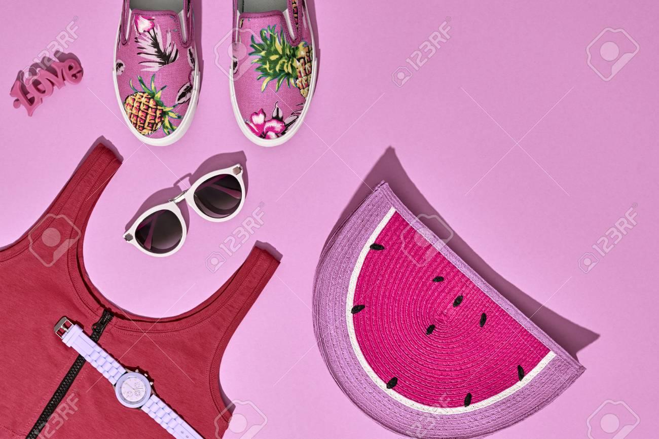 Foto de archivo - Set de accesorios para niñas de verano 5c13cd35ba9b