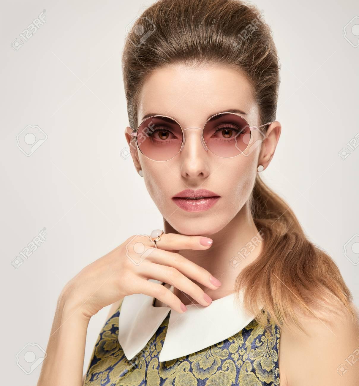b6888447daa1 Beautiful Lady In Elegant Dress. Fashion Young Woman