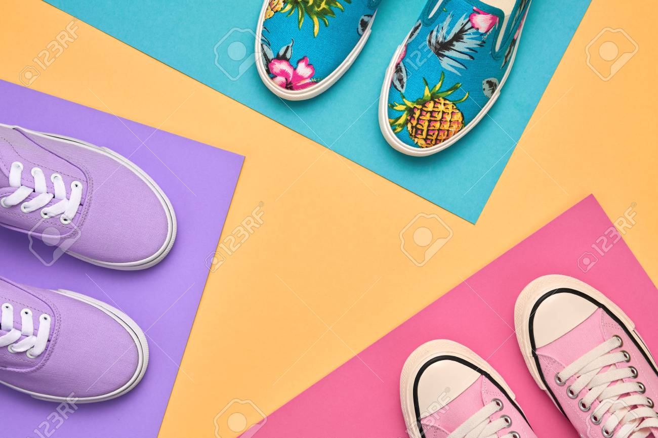 6131409a56 Fashion. Stylish Trainers shoes. Minimal Design. Summer Hipster..