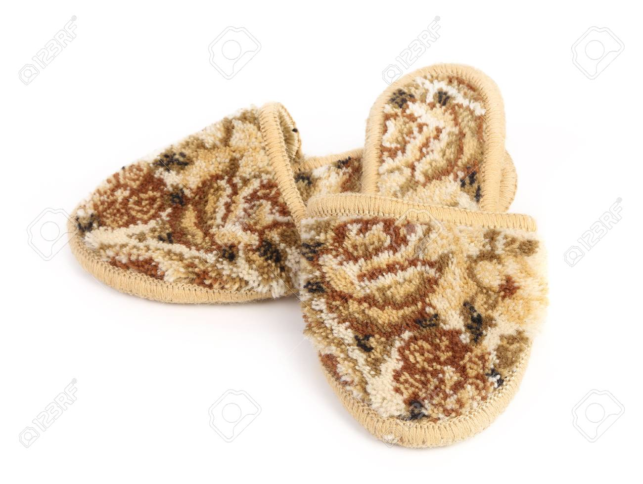 Pair of slippers on a white background Stock Photo - 21993886