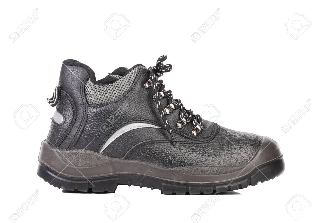 Black man's boot. Isolated on a white background. Stock Photo - 22345450