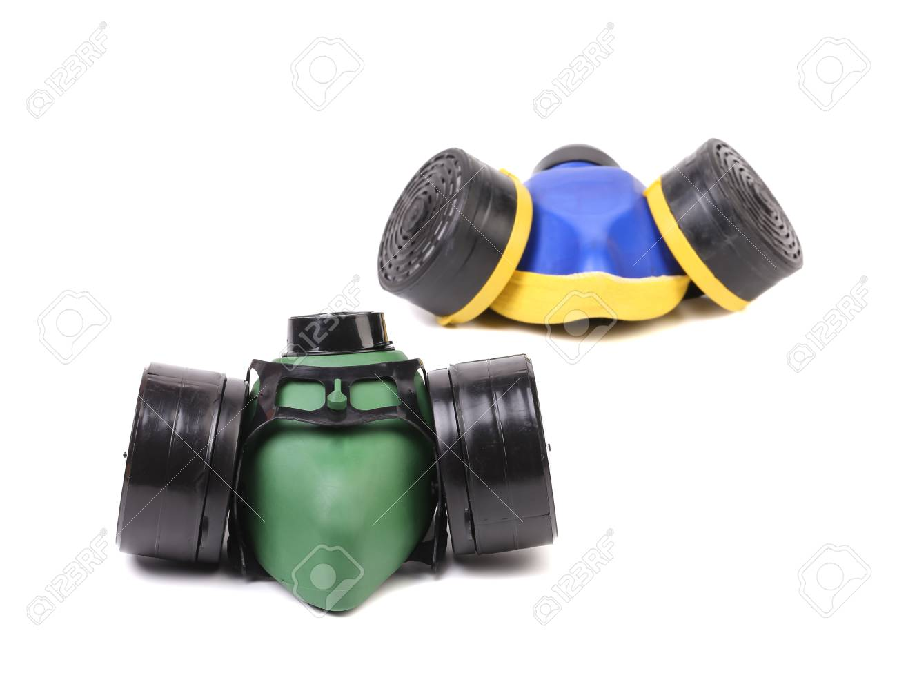 Two Gas Masks. Isolated on white background. Stock Photo - 22494606