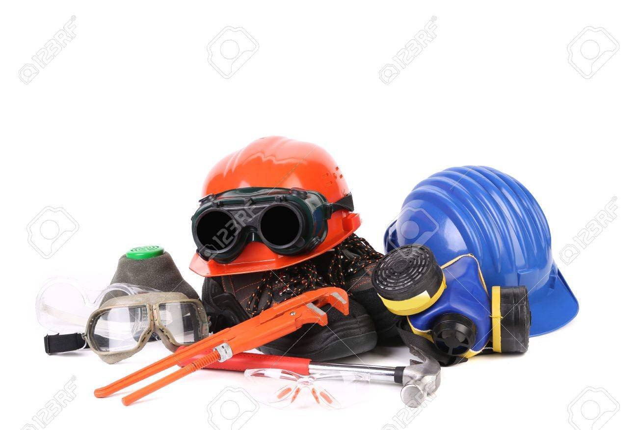 Various working equipment. Isolated on a white background. Stock Photo - 24395181