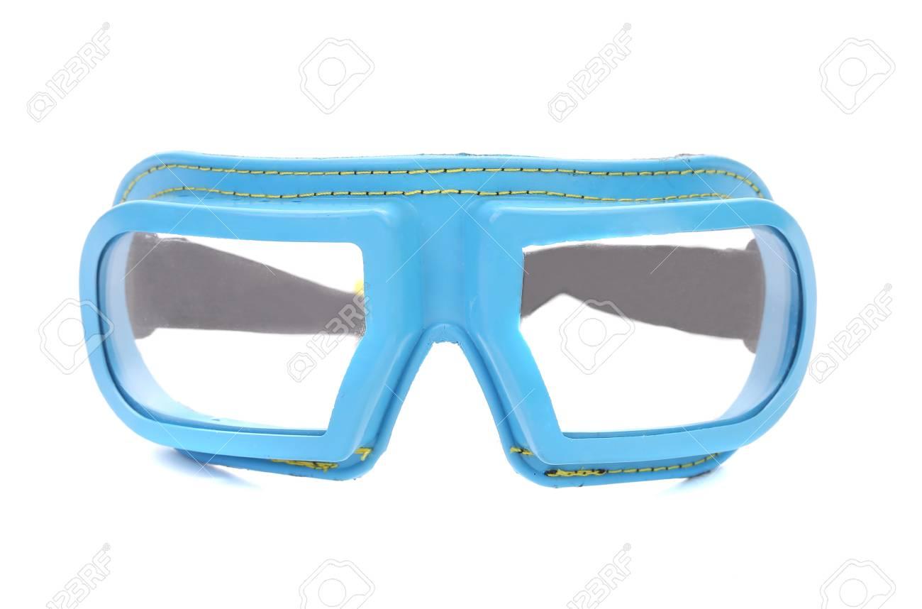 fc1d40b242f9ef Beschermende bril. Geïsoleerd op een witte achtergrond. Stockfoto - 26831990