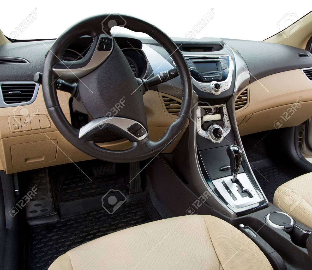 View Of The Interior Of A Modern Automobile. Stock Photo, Picture ...