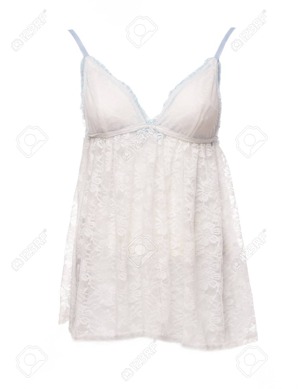Satin Women\'s Nightgown Isolated On A White Background Stock Photo ...