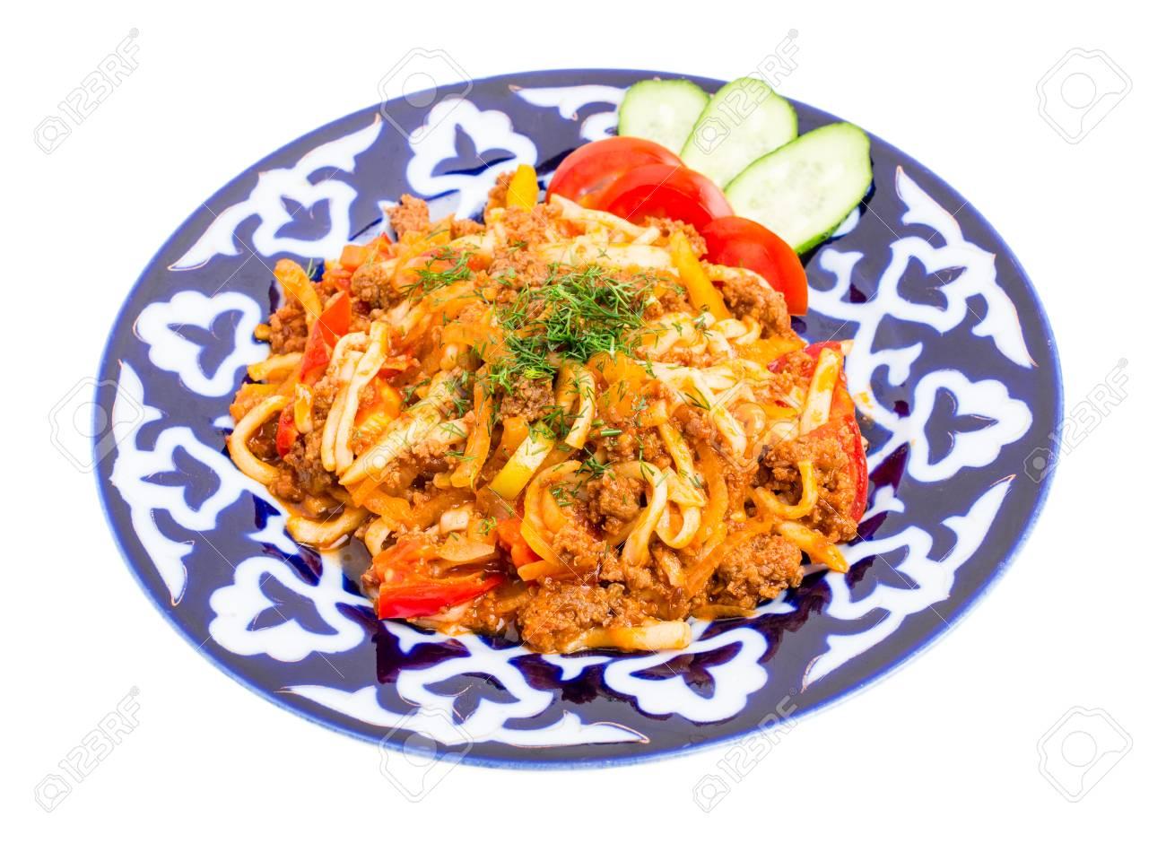 Asian noodles baked foto 759