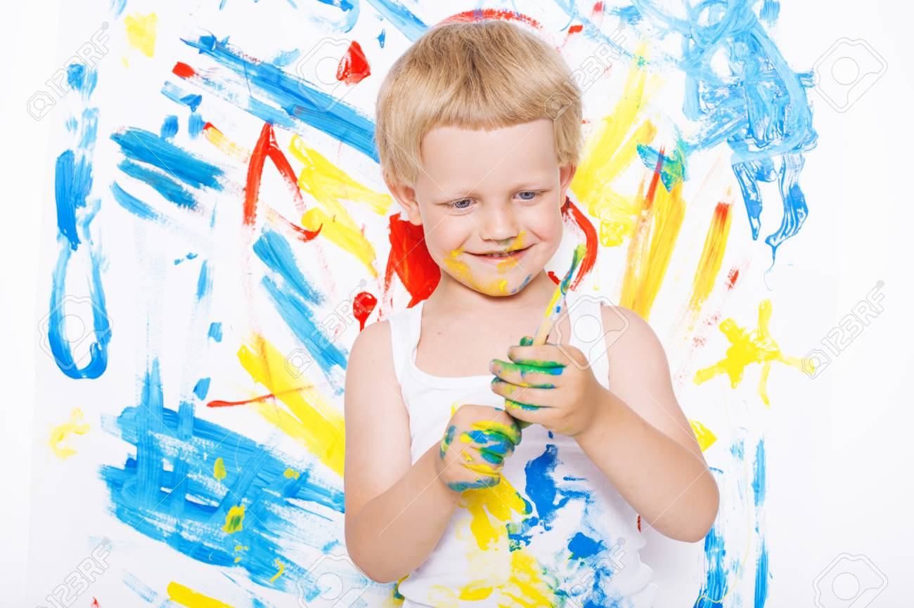 Image result for children painting messy