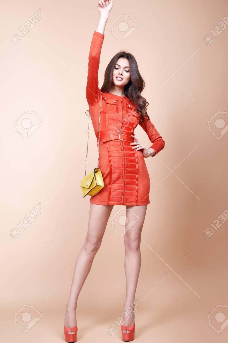 Sexy Glamour Schöne Frau Kurz Sexy Mode-Stil Kleid Partei Stil ...