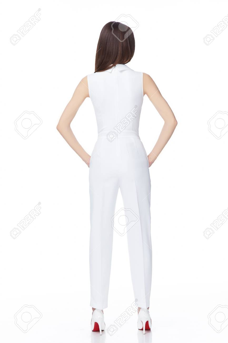 Glamour-Mode-Stil-Katalog Casual Kleidung Für Business-Frau Sitzung ...