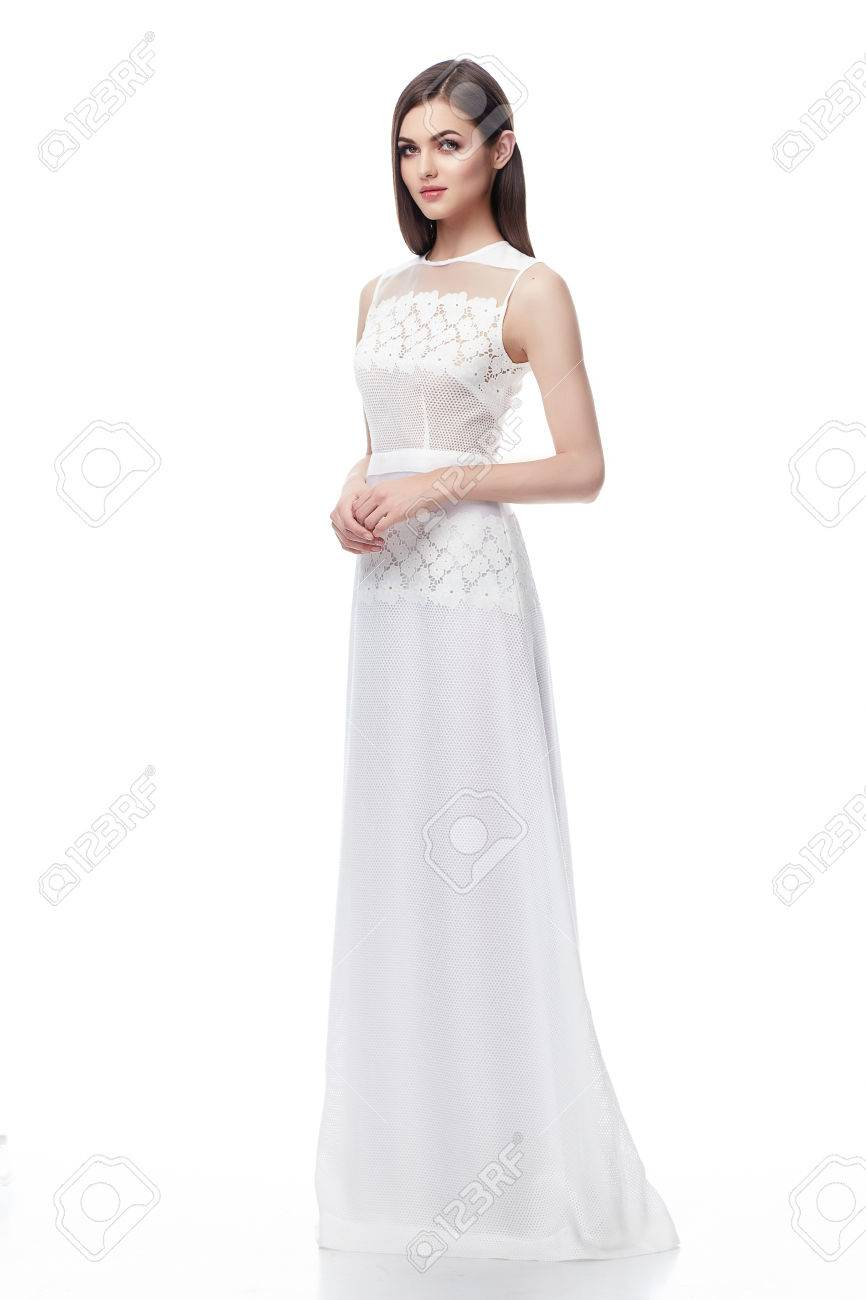 Beautiful Sexy Woman Brunette Hair Perfect Skinny Body Wear Fashion ...