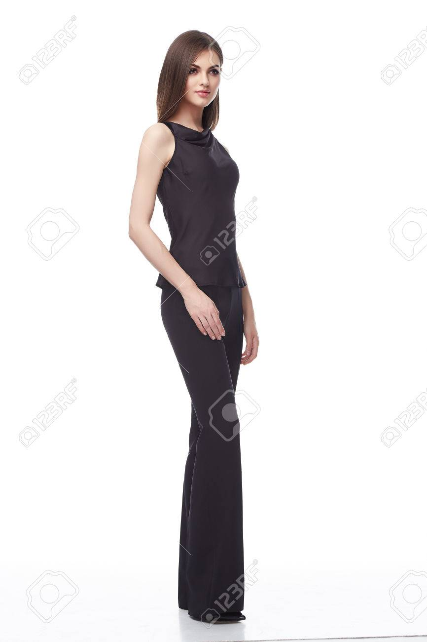 Glamour Mode-Stil Katalog Lässige Kleidung Für Business-Frau Sitzung ...