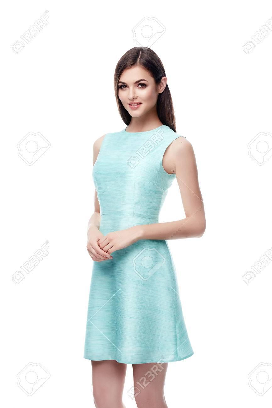 Geschäfts Sexy Frau Hübsches Gesicht Perfekten Körper ...