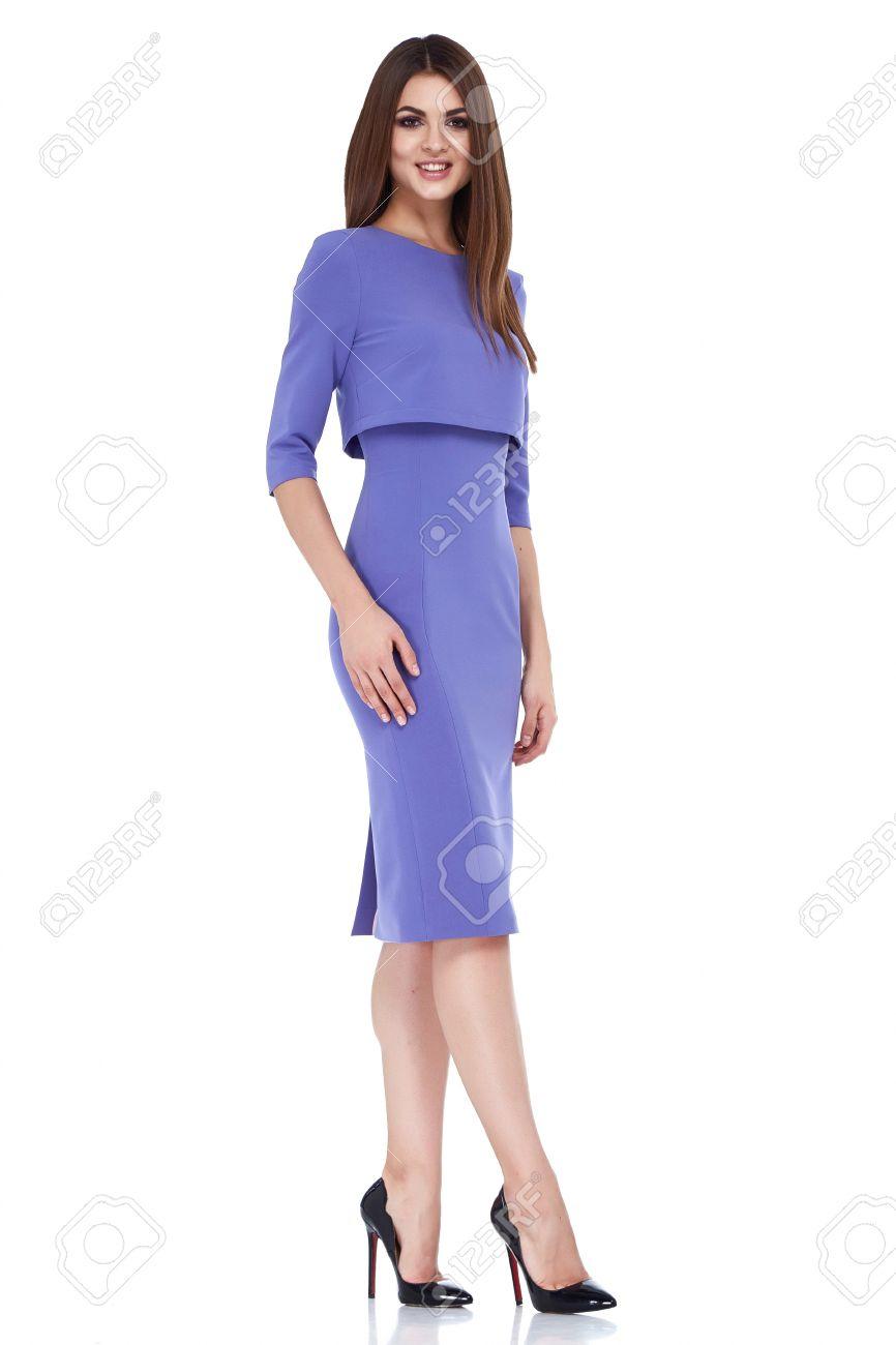 Vestido De Estilo De La Moda Modelo De Mujer Hermosa Secretaria ...