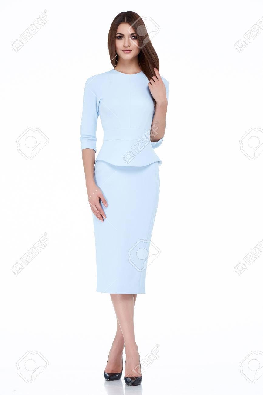 Diplomático Uniforme Oficina De Protocolo Azafata Traje De Etiqueta  Presentadora De Aire Del Vestido Del Estilo De Visita Flaca Mujer Morena  Atractiva De ... b53ba8fca7cc