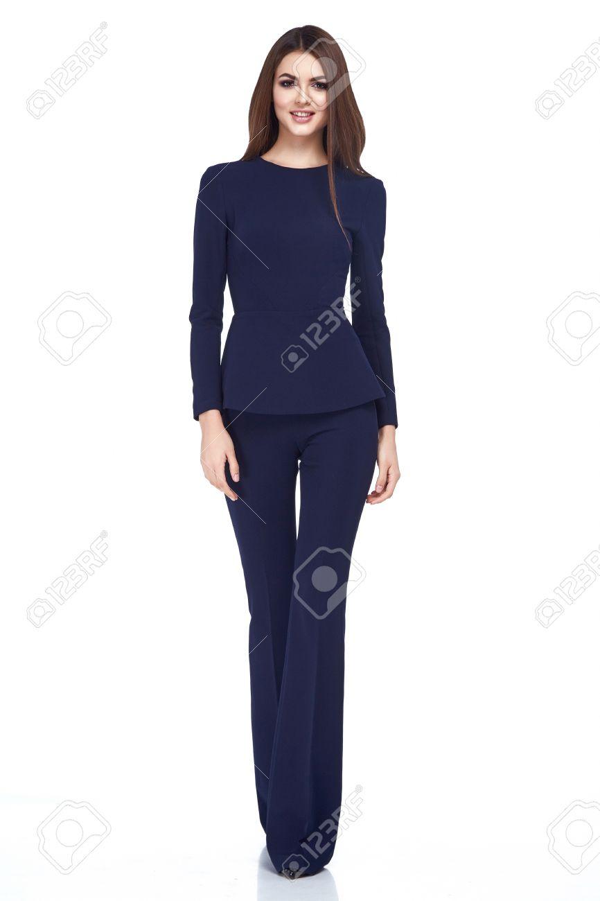 58c701bf47f Beautiful sexy glamour fashion woman wear business style clothing..