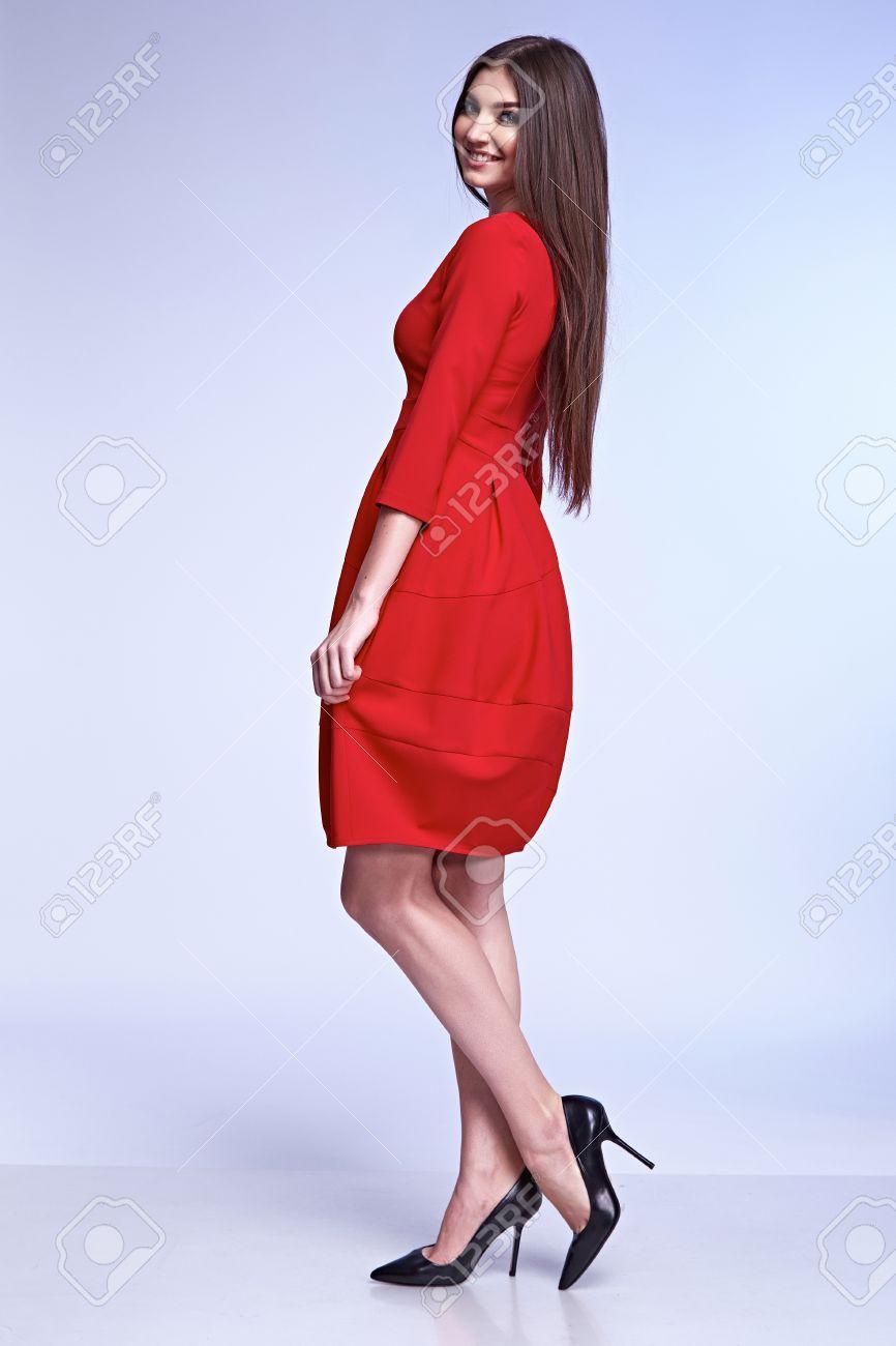 Elegante Mode Glamour-Model Posieren Für Katalog Von Business-Stil ...