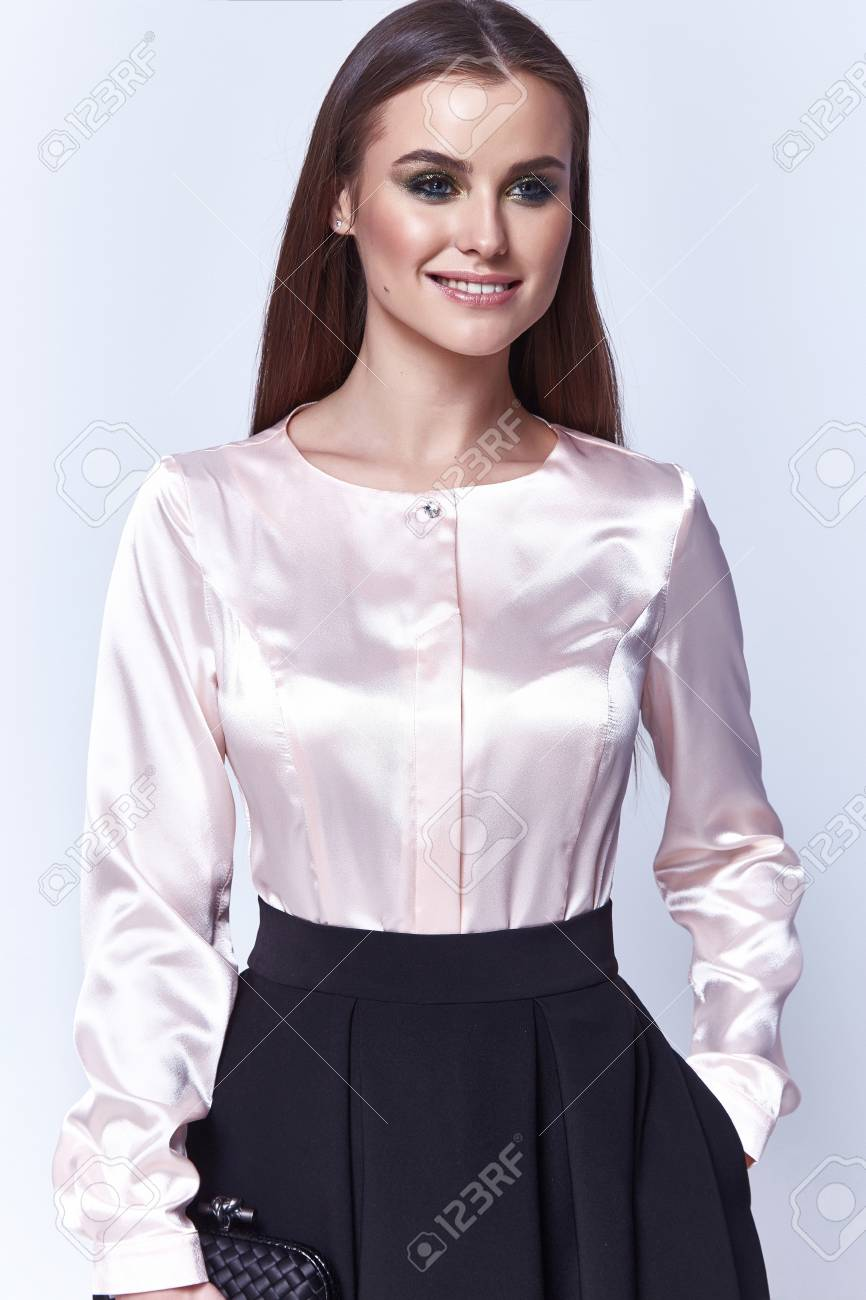 Beautiful Woman Lady Spring Autumn Collection Glamor Model Business