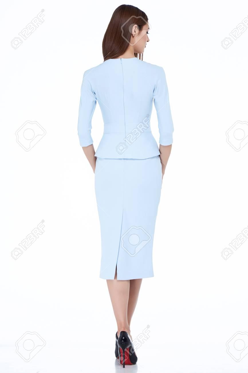 Femme Modele Fashion Style Robe Belle Secretaire Diplomate Bureau