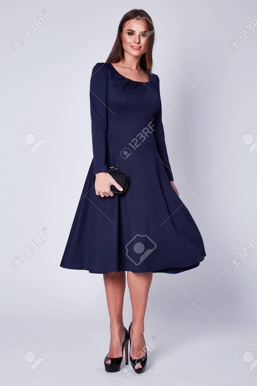 611f04530b3b Vestido Elegante De Moda Elegante Joven Hermoso De La Señora De La Señora  Atractiva Larga