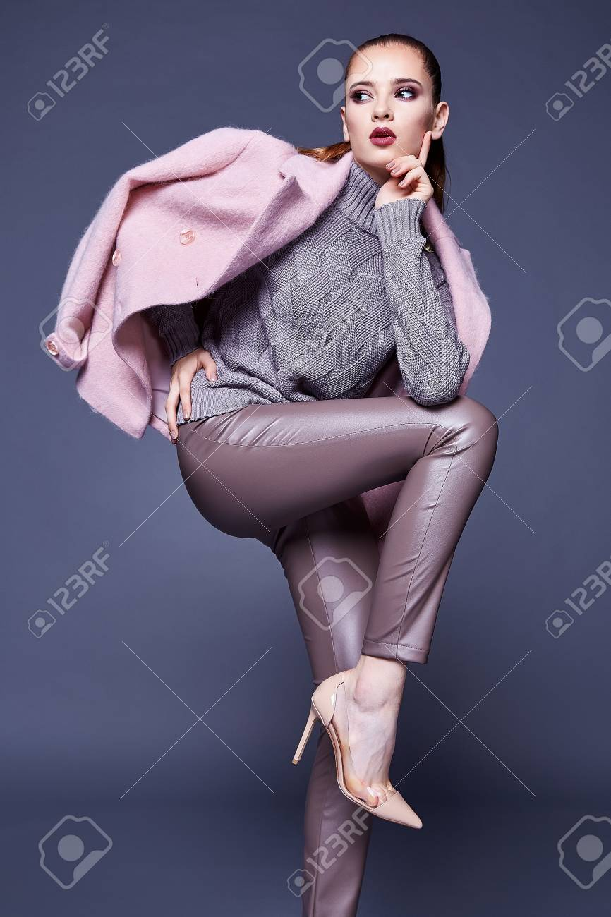 Woman Wear Business Style Clothing For Office Casual Meeting.. Stock ...
