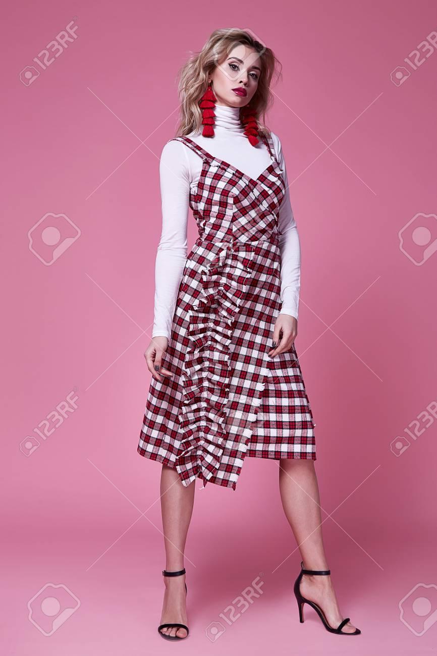 08b1ec238 Pretty Woman Beautiful Sexy Lady Wear Fashion Designer Dress.. Stock ...
