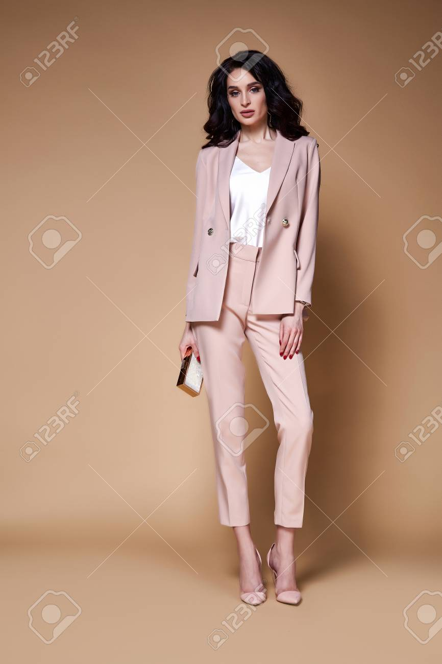 Sexy Beautiful Business Woman Lady Boss Ceo Manager Makeup Long