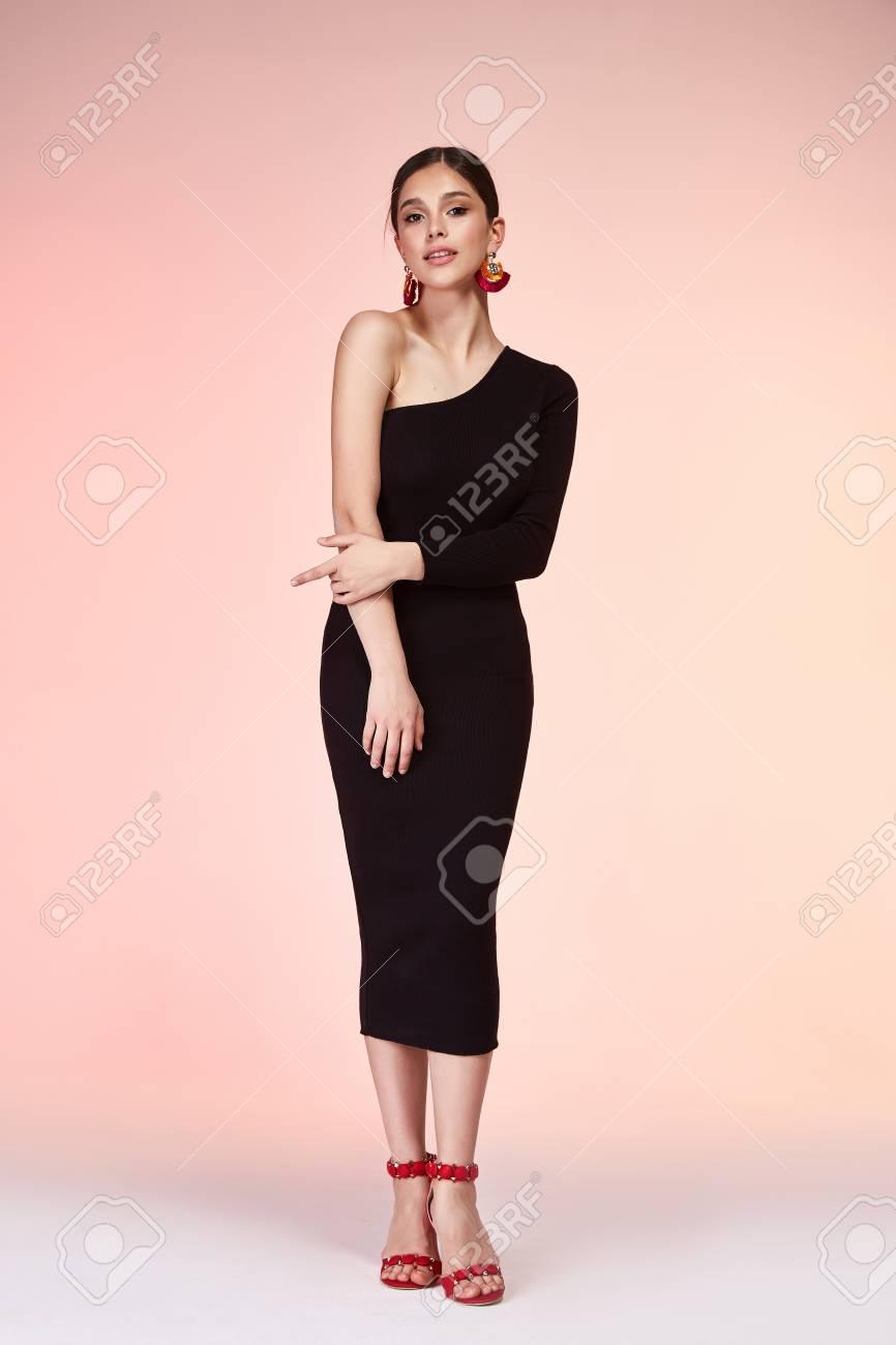 Skinny sexy brunette