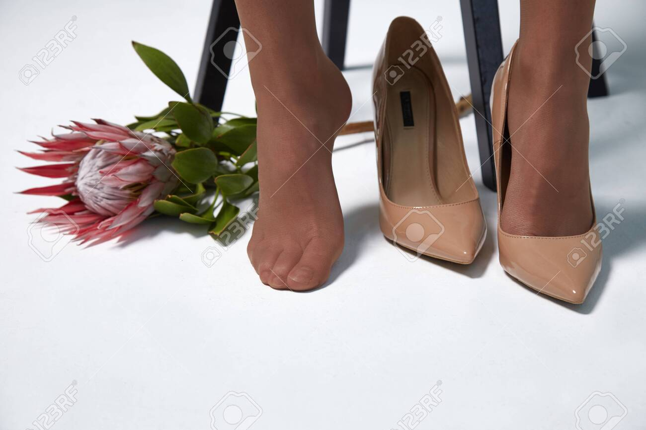 Part Of Woman Body Perfect Shape Toes Foot Sock Legs Skin Tan Stock Photo Picture And Royalty Free Image Image 142823200