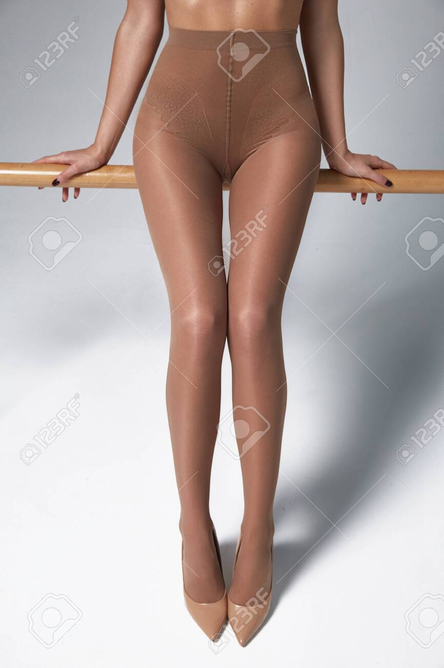 Part Of Woman Body Perfect Shape Legs Feet Skin Tan Wear Stockings Stock Photo Picture And Royalty Free Image Image 142823478