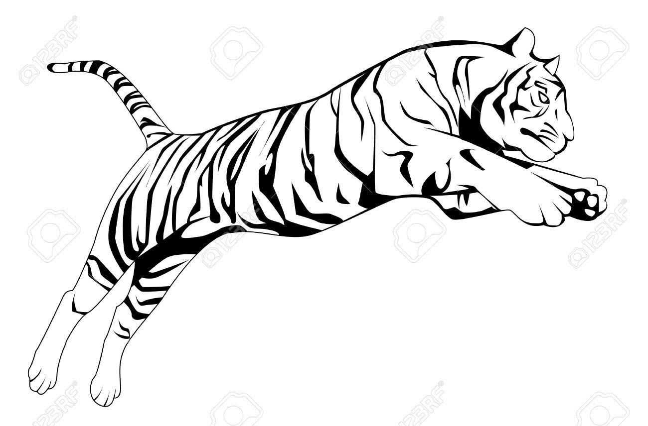 tiger jump royalty free cliparts vectors and stock illustration rh 123rf com Running Hare Clip Art Marathon Running Clip Art