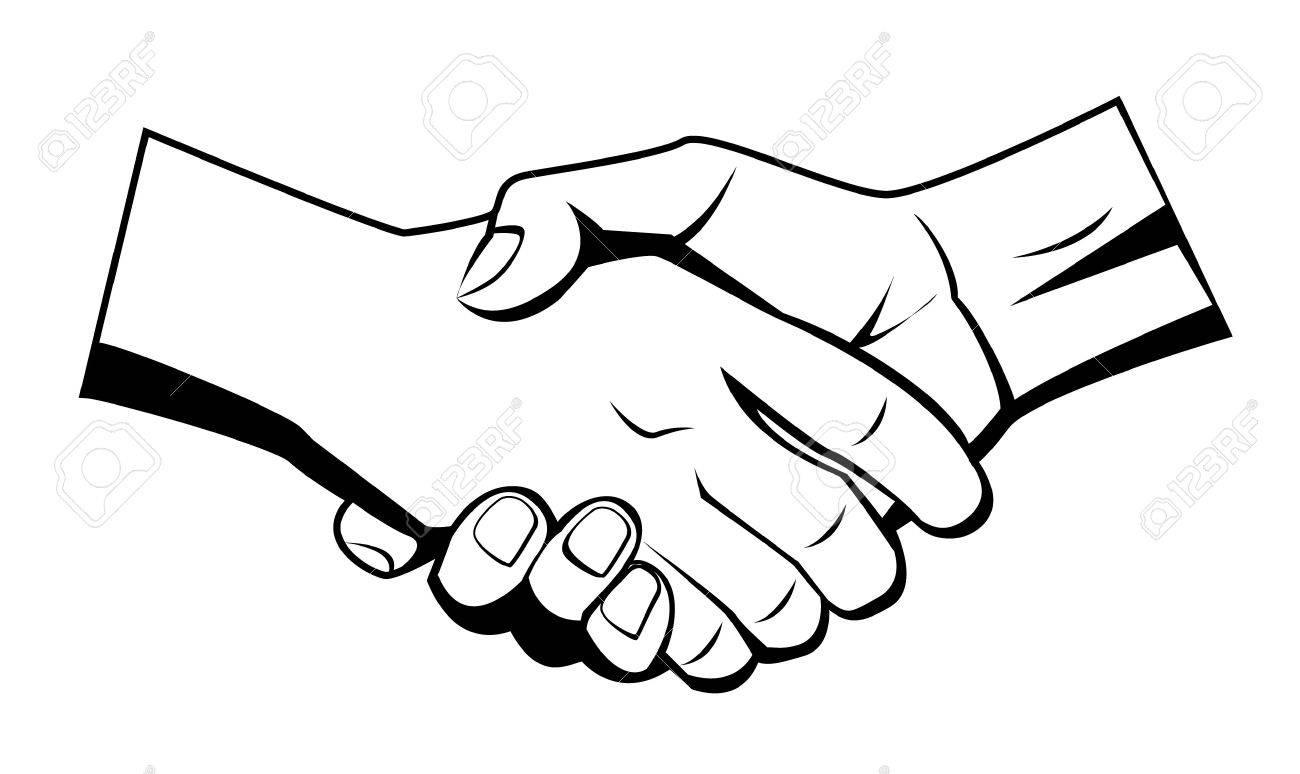 hand shake Stock Vector - 17444926