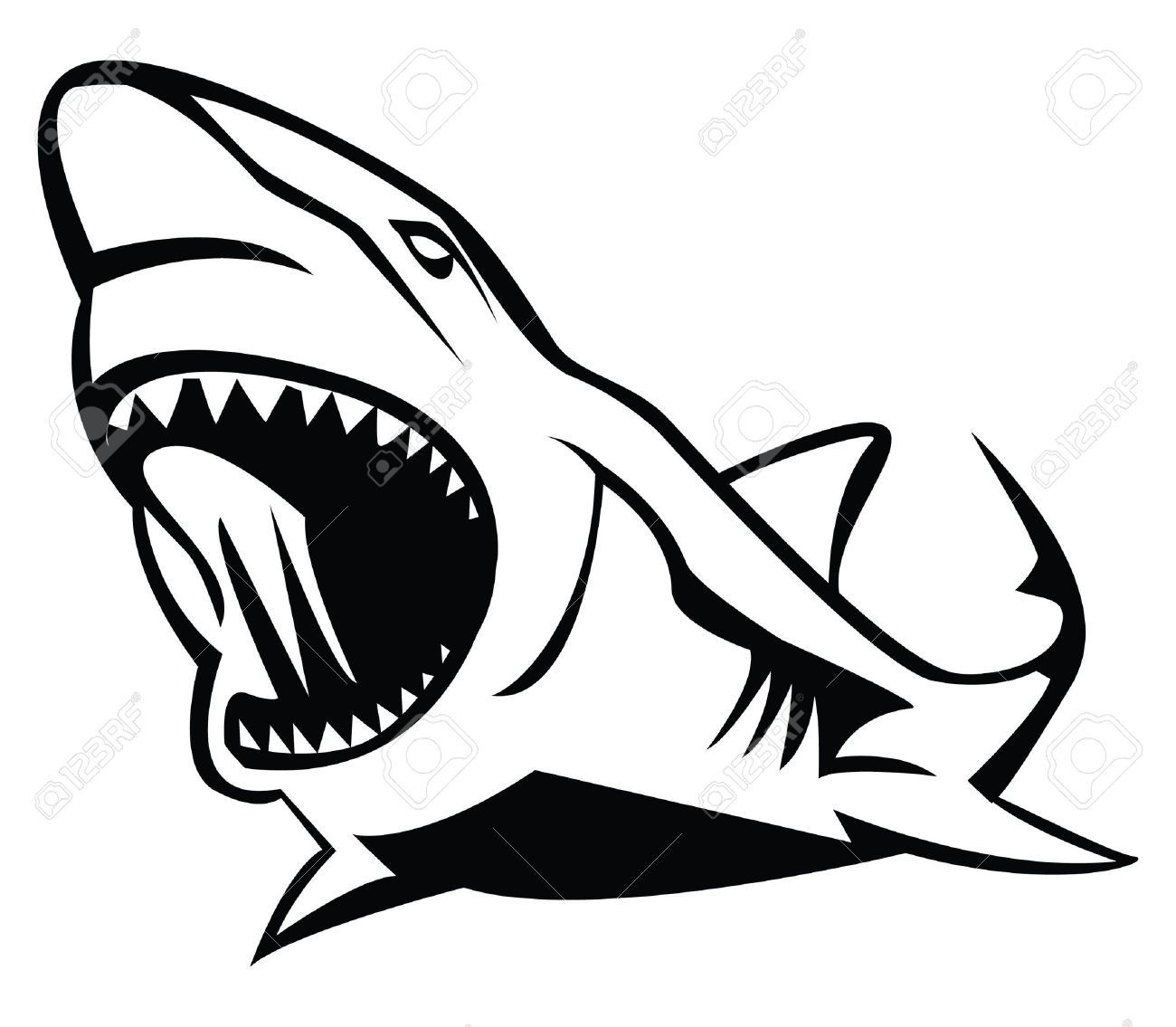 shark royalty free cliparts vectors and stock illustration