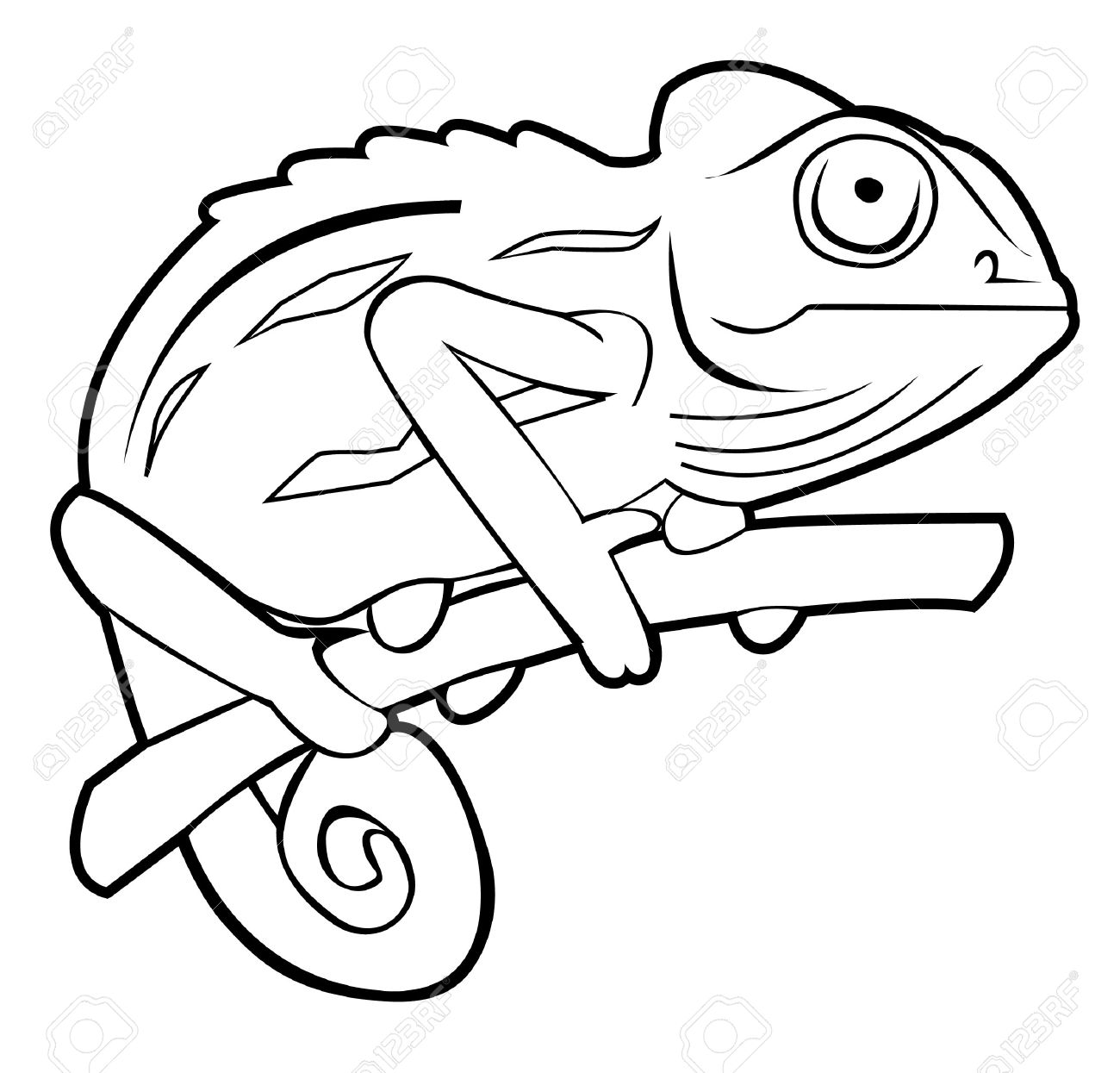 chameleon royalty free cliparts vectors and stock illustration