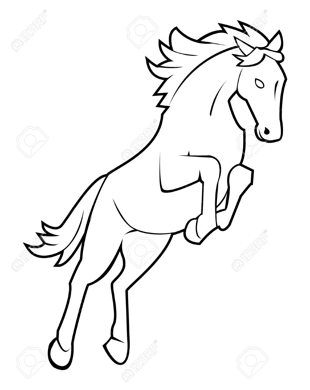 Horse Jump Royalty Free Cliparts Vectors And Stock Illustration Image 17444808