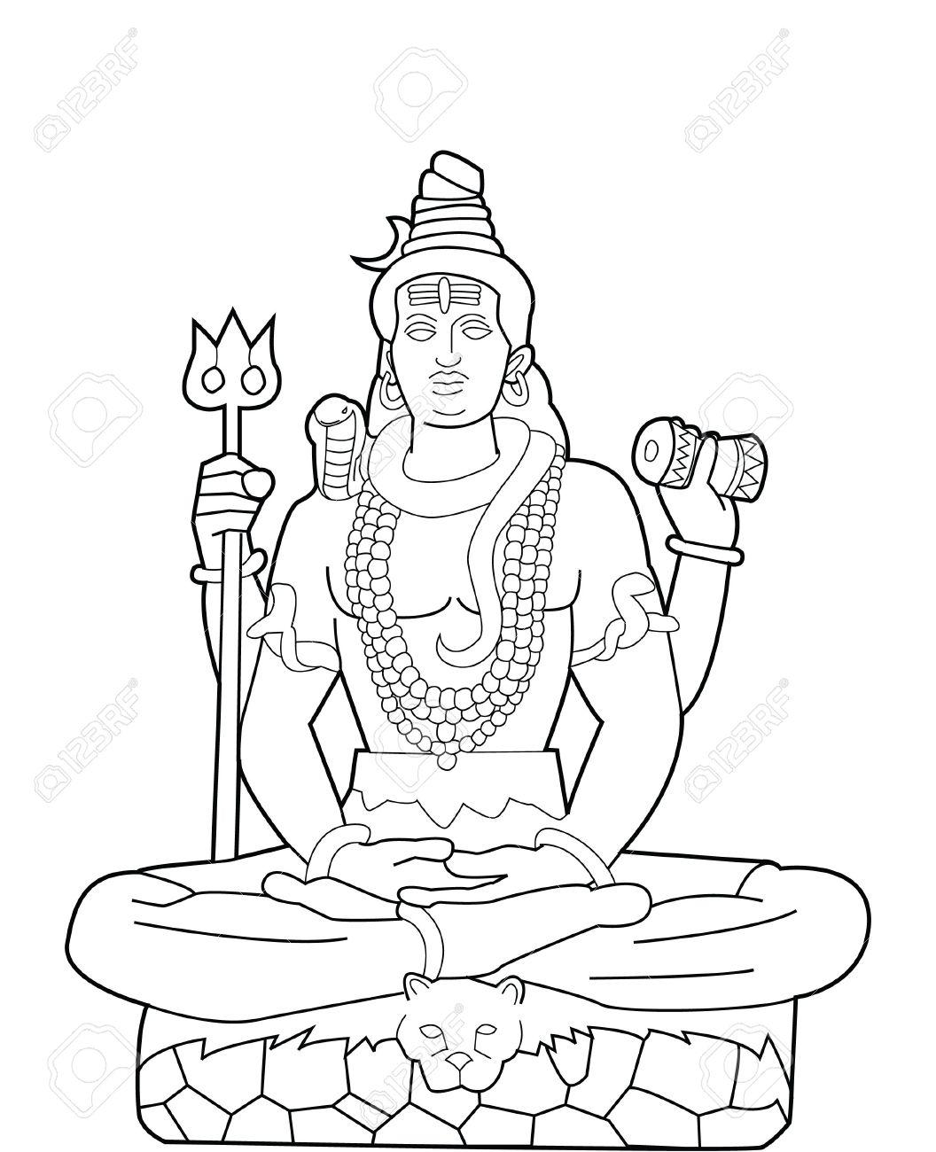 God shiva stock vector 17445075