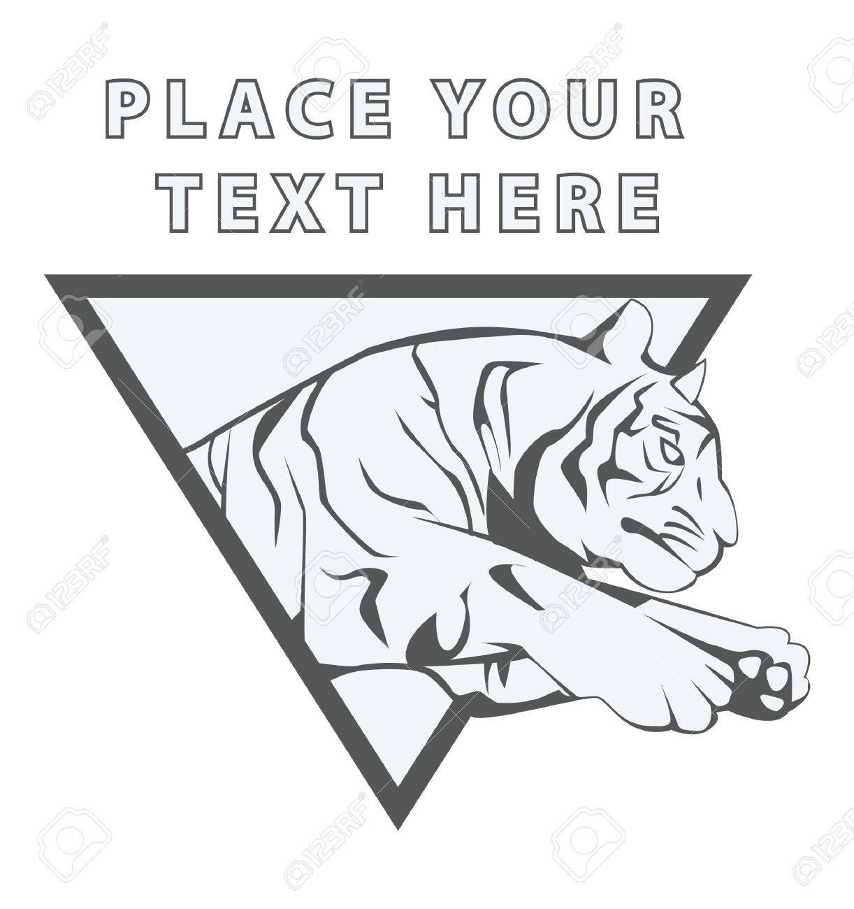 Tiger Jump Sign Stock Vector - 17444530