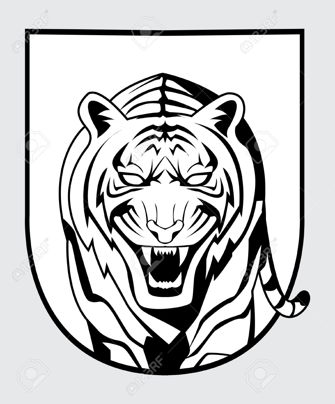 Tiger Symbol Royalty Free Cliparts Vectors And Stock Illustration