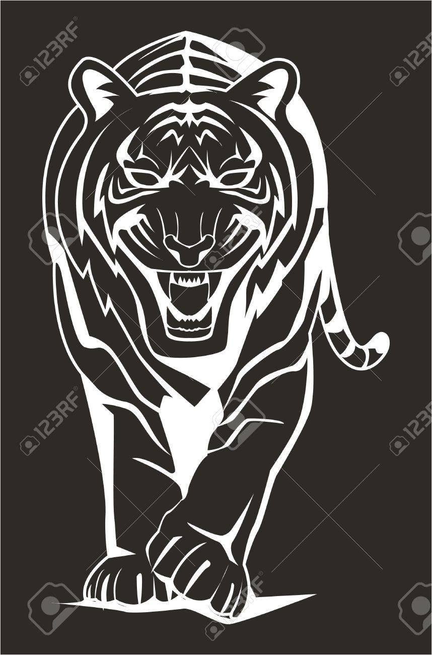 dark tiger Stock Vector - 17444935