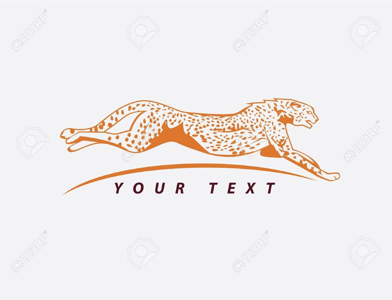 cheetah symbol Stock Vector - 17444853