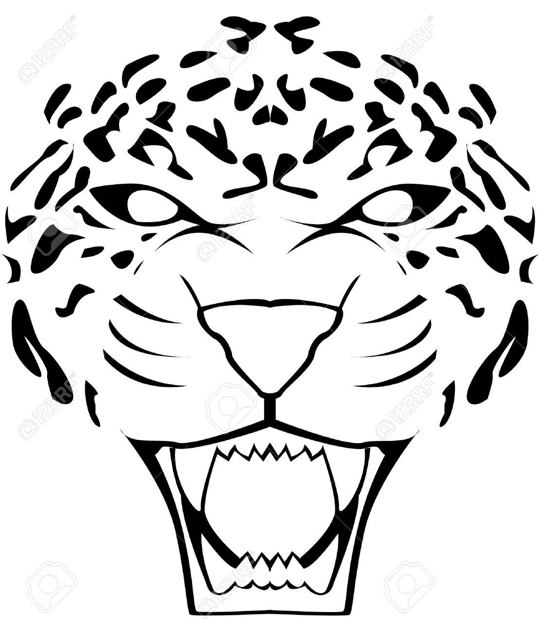 leopard face Stock Vector - 17444781