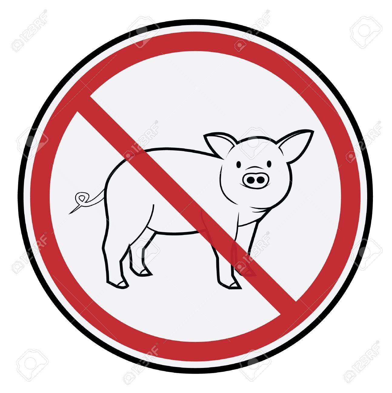 Pig Sign Stock Vector - 17444765