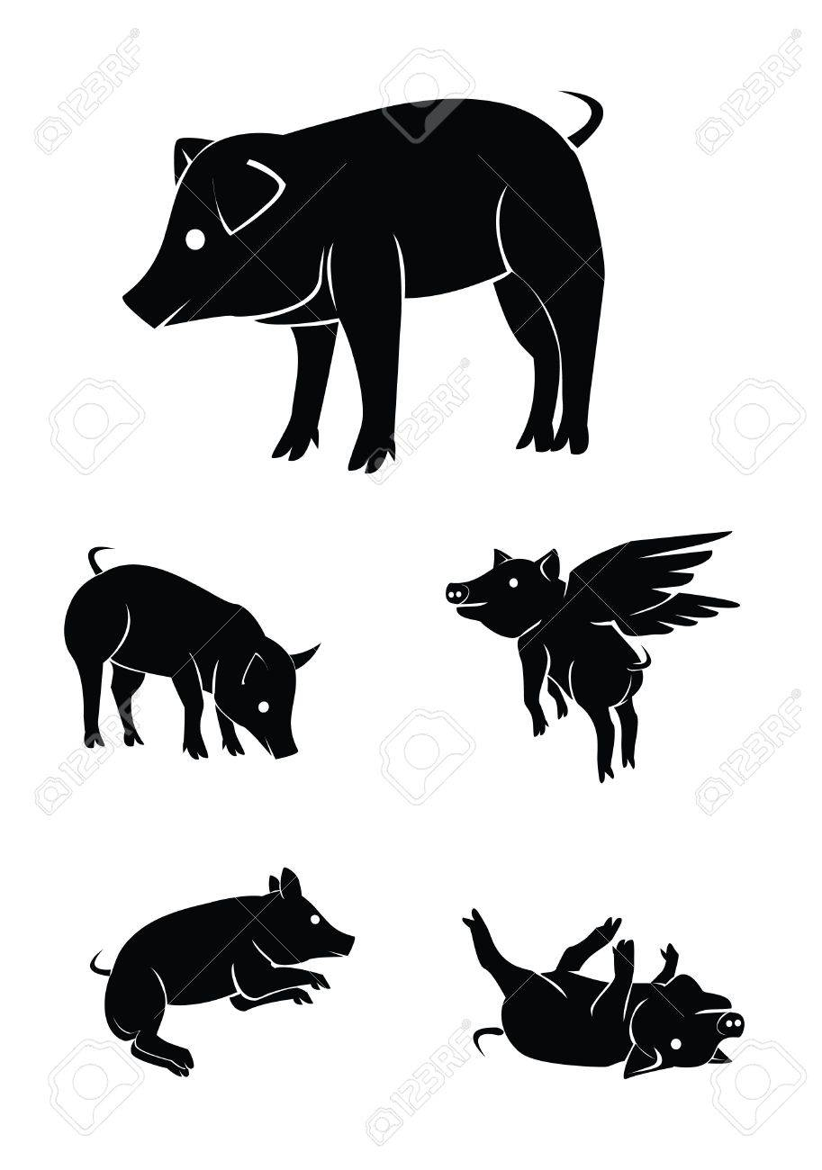 pig Collection Set Stock Vector - 17930039
